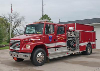 Scioto Twp Fire Dept E-401 1999 Pierce Freightliner FL80 1500-1500 a