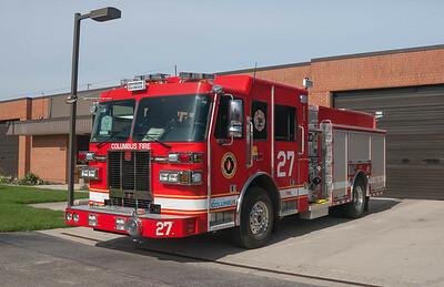 Columbus Division of Fire E-27 2015 Sutphen Monarch 1500-750 a