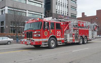 Columbus Division of Fire L-23 2015 Sutphen SPH 100 1500-300 b
